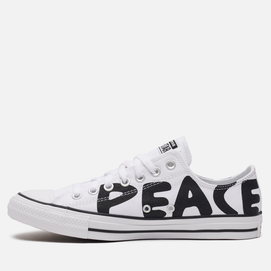 Кеды Converse Chuck Taylor All Star Low Peace White/Black Cherry/White