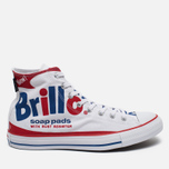 Кеды Converse Chuck Taylor All Star Warhol High Top White/Red/Blue фото- 0