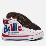 Кеды Converse Chuck Taylor All Star Warhol High Top White/Red/Blue фото- 1