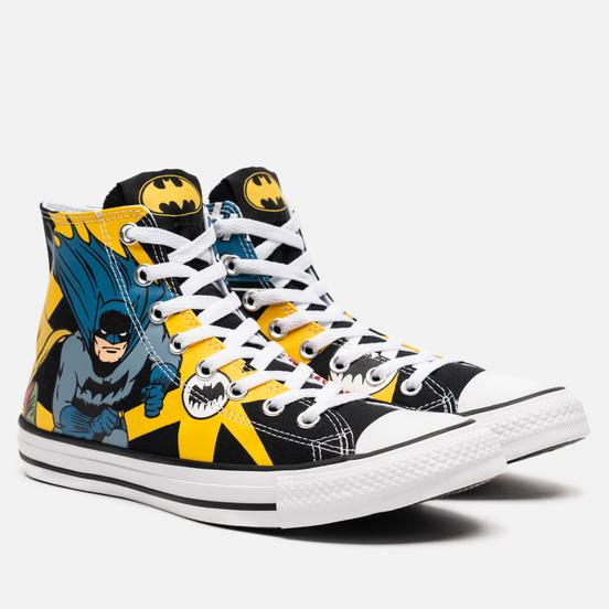 Кеды Converse x Batman Chuck Taylor All Star High Black/White/Lemon Chrome