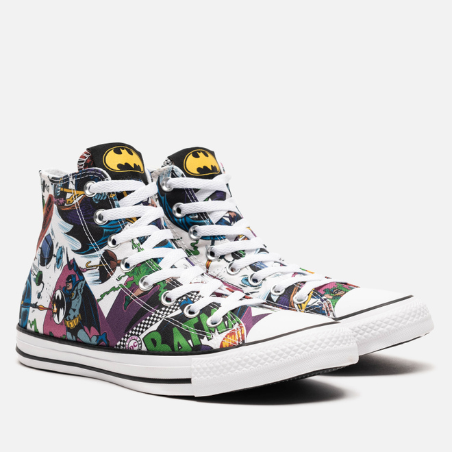 Мужские кеды Converse x Batman Chuck Taylor All Star High White/Black/Multi