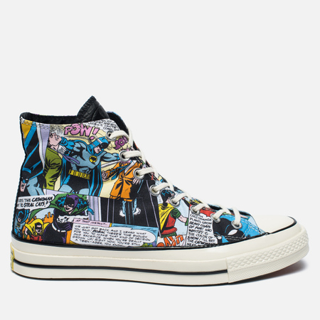 Converse x DC Comics Chuck Taylor All Star '70 Batman Plimsoles Black Print/White