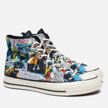 Мужские кеды Converse x DC Comics Chuck Taylor All Star '70 Batman Black Print/White фото- 1