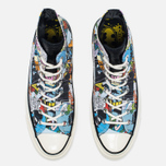 Мужские кеды Converse x DC Comics Chuck Taylor All Star '70 Batman Black Print/White фото- 4