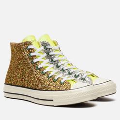 Кеды Converse x JW Anderson Chuck 70 Glitter High Brown/Cream