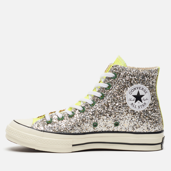 Кеды Converse x JW Anderson Chuck 70 Glitter High Brown/Cream