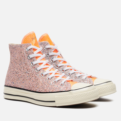 Мужские кеды Converse x JW Anderson Chuck 70 Glitter High Medium Orange