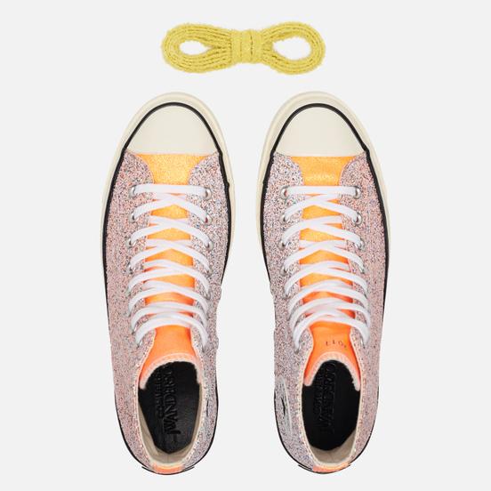 Кеды Converse x JW Anderson Chuck 70 Glitter High Medium Orange