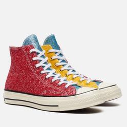 Кеды Converse x JW Anderson Chuck 70 Glitter High Red