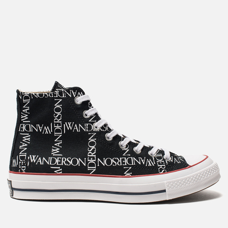 Кеды Converse x JW Anderson Chuck 70 High Black/White/Insignia Red