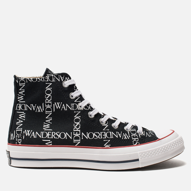 Кеды Converse x JW Anderson Chuck 70 High Black/White/Insignia Red