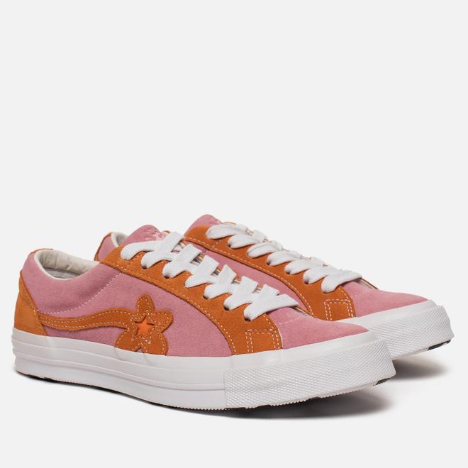 Кеды Converse x Tyler The Creator Golf le Fleur One Star Candy Pink/Orange Peel/White