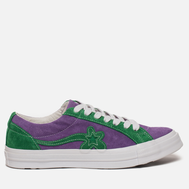 Кеды Converse x Tyler The Creator Golf le Fleur One Star Purple Heart/Jolly Green/White