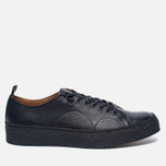 Кеды Fred Perry x George Cox Creeper Scotchgrain Leather Black фото- 0