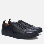 Кеды Fred Perry x George Cox Creeper Scotchgrain Leather Black фото- 1