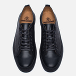 Кеды Fred Perry x George Cox Creeper Scotchgrain Leather Black фото- 4
