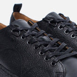 Кеды Fred Perry x George Cox Creeper Scotchgrain Leather Black фото- 5