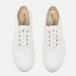 Кеды Maison Kitsune Canvas White фото- 4