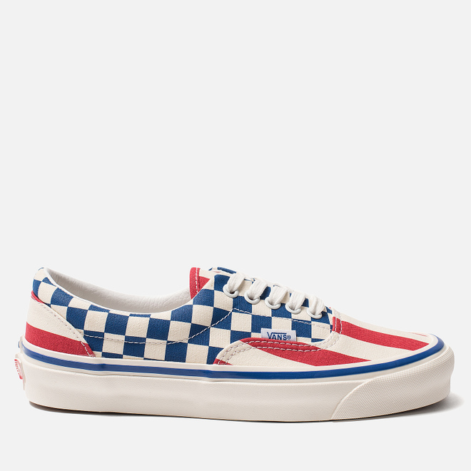 Кеды Vans Era 95 DX Anaheim Factory Red Stripes/Blue Check