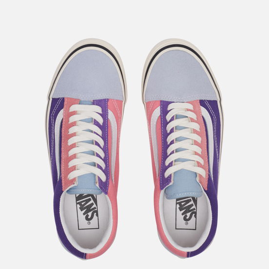 Мужские кеды Vans Old Skool 36 DX Anaheim Factory Light Blue/Purple/Pink