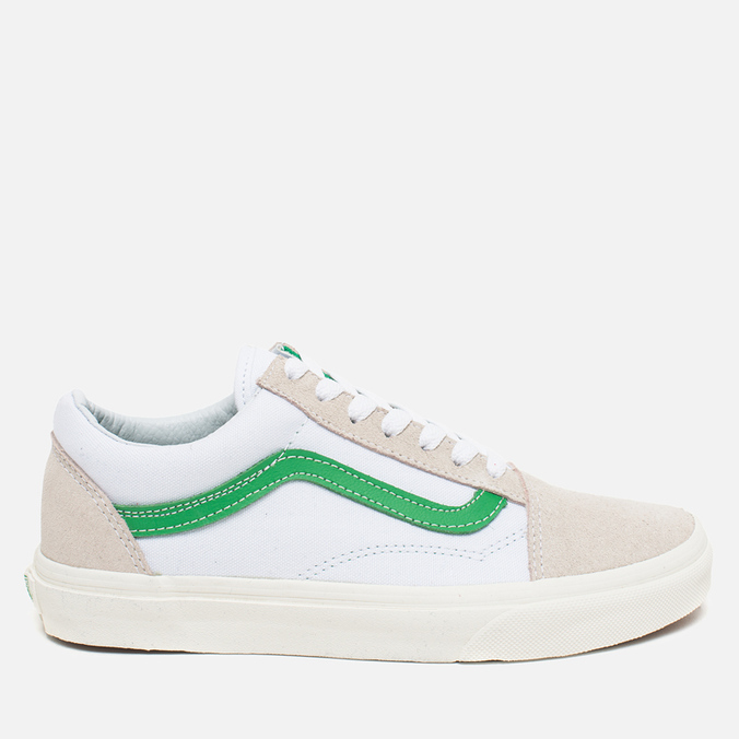 Кеды Vans Old Skool True White/Kelly Green