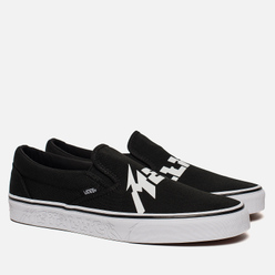 Кеды Vans x Metallica Classic Slip-On Black/True White
