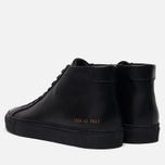 Мужские кеды Common Projects Original Achilles Mid Black фото- 2