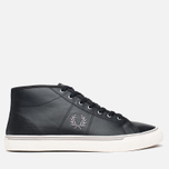 Fred Perry Haydon Mid Leather Men's Plimsoles Black photo- 0