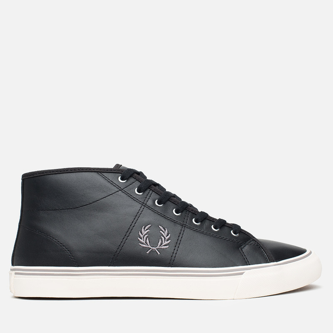Fred Perry Haydon Mid Leather Men's Plimsoles Black