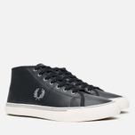 Fred Perry Haydon Mid Leather Men's Plimsoles Black photo- 1