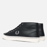 Fred Perry Haydon Mid Leather Men's Plimsoles Black photo- 2