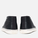 Fred Perry Haydon Mid Leather Men's Plimsoles Black photo- 3