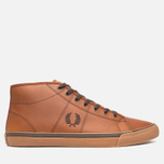 Мужские кеды Fred Perry Haydon Mid Leather Tan фото- 0