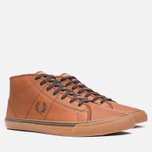 Мужские кеды Fred Perry Haydon Mid Leather Tan фото- 1