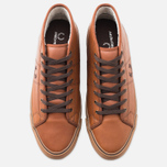 Мужские кеды Fred Perry Haydon Mid Leather Tan фото- 4