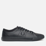 Мужские кеды Fred Perry Kendrick Tipped Cuff Leather Black фото- 0