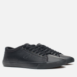 Мужские кеды Fred Perry Kendrick Tipped Cuff Leather Black фото- 1