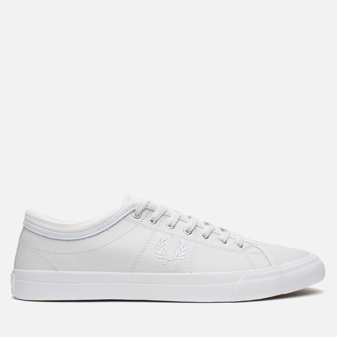 Fred Perry Kendrick Tipped Cuff Leather Men's Plimsoles White