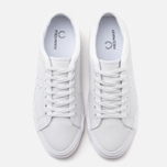 Мужские кеды Fred Perry Kendrick Tipped Cuff Leather White фото- 4