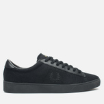 Мужские кеды Fred Perry Spencer Canvas Leather Black фото- 0