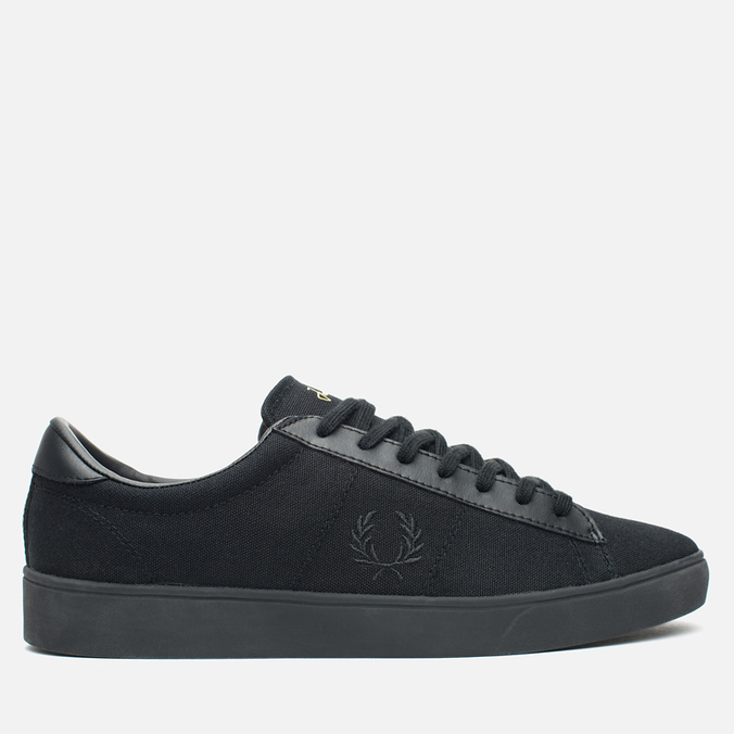Мужские кеды Fred Perry Spencer Canvas Leather Black