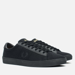 Мужские кеды Fred Perry Spencer Canvas Leather Black фото- 1
