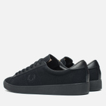 Мужские кеды Fred Perry Spencer Canvas Leather Black фото- 2