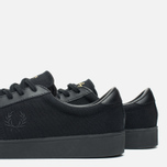 Мужские кеды Fred Perry Spencer Canvas Leather Black фото- 5