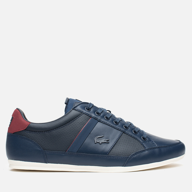 Мужские кеды Lacoste Chaymon PRM US SPM Dark Blue/Dark Red