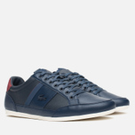 Мужские кеды Lacoste Chaymon PRM US SPM Dark Blue/Dark Red фото- 1