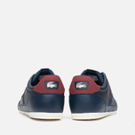 Мужские кеды Lacoste Chaymon PRM US SPM Dark Blue/Dark Red фото- 3