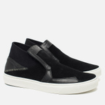 Мужские кеды Stone Island Shadow Project Step-On Slip-On Black фото- 1
