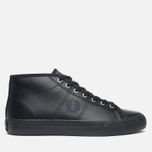 Женские кеды Fred Perry Haydon Mid Leather Black фото- 0