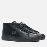 Женские кеды Fred Perry Haydon Mid Leather Black фото- 1
